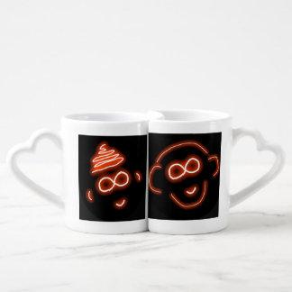 Sistema de la taza del amor del mono de Irahs y de