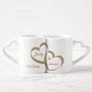 Sistema de la taza del recién casado de los tazas para parejas