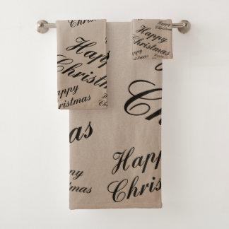 sistema de la toalla de baño del navidad, sistema,