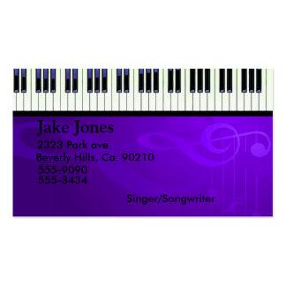 Sistema de las costuras del teclado tarjeta de visita
