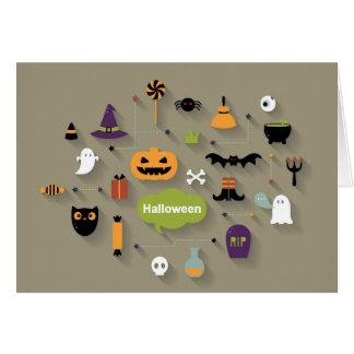Sistema de los iconos de Halloween Tarjeta De Felicitación