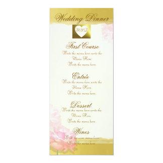Sistema de oro del rosa del rosa del borde del invitación 10,1 x 23,5 cm