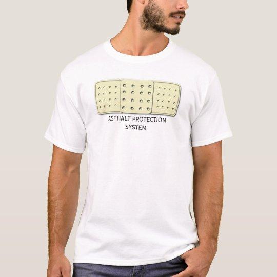 Sistema de protección del asfalto camiseta