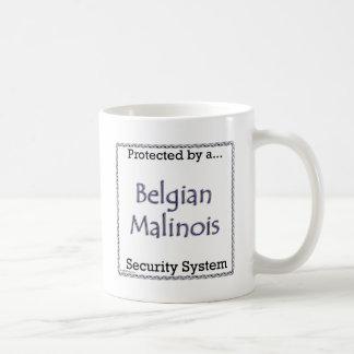 Sistema de seguridad de Malinois del belga Taza De Café