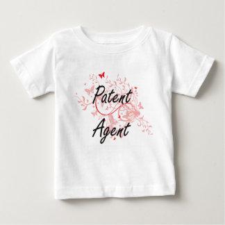 Sistema de trabajo artístico del agente de patente camiseta de bebé