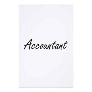 Sistema de trabajo artístico del contable  papeleria de diseño