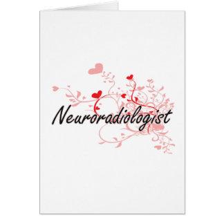 Sistema de trabajo artístico del neuroradiólogo tarjeta de felicitación