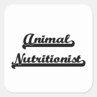 Sistema de trabajo artístico del nutricionista pegatina cuadrada