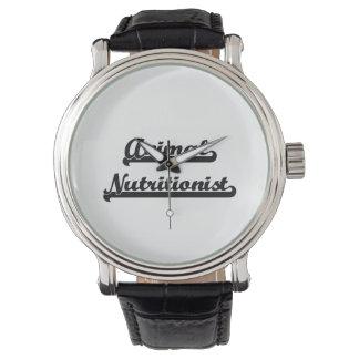 Sistema de trabajo artístico del nutricionista relojes de pulsera