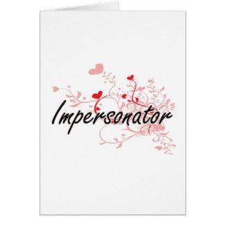 Sistema de trabajo artístico del personificador tarjeta de felicitación