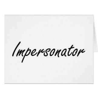 Sistema de trabajo artístico del personificador tarjeta de felicitación grande