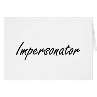 Sistema de trabajo artístico del personificador tarjeta pequeña