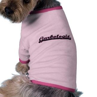 Sistema de trabajo clásico de Garbologist Camiseta Con Mangas Para Perro