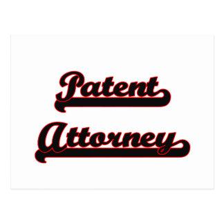 Sistema de trabajo clásico del abogado de patentes postal