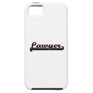 Sistema de trabajo clásico del abogado iPhone 5 cobertura