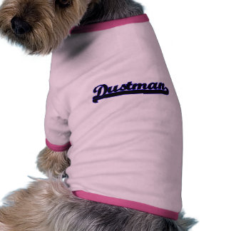 Sistema de trabajo clásico del basurero camiseta con mangas para perro