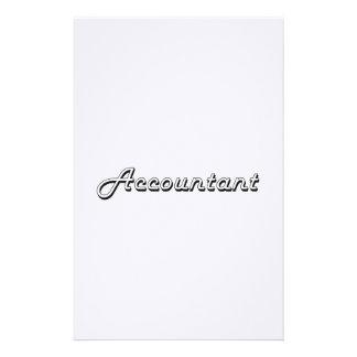 Sistema de trabajo clásico del contable papelería personalizada
