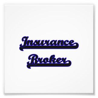 Sistema de trabajo clásico del corredor de seguros fotografías
