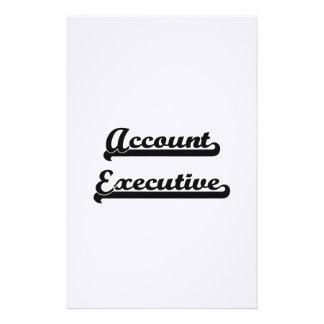 Sistema de trabajo clásico del ejecutivo de cuenta  papeleria de diseño