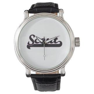 Sistema de trabajo clásico del explorador relojes de pulsera