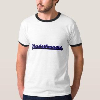 Sistema de trabajo clásico del fisioterapeuta camisetas