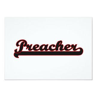 Sistema de trabajo clásico del predicador invitación 12,7 x 17,8 cm