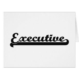 Sistema de trabajo clásico ejecutivo tarjeta de felicitación grande