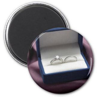 Sistema del anillo de bodas imán redondo 5 cm