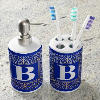 Sistema del baño del monograma accesorios de baño