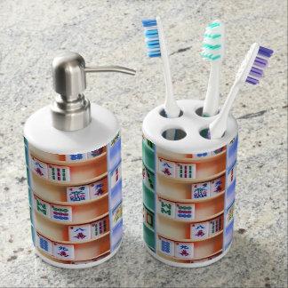 Sistema del dispensador del tenedor y del jabón set de baño