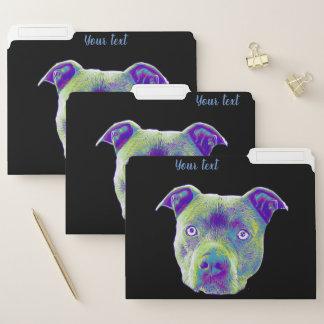 Sistema del perro de Pitbull de carpetas de