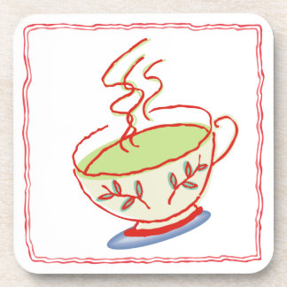 Sistema del práctico de costa de la taza de té posavaso