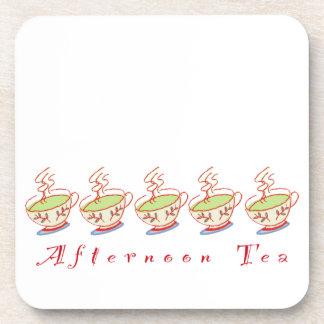 Sistema del práctico de costa del té de tarde posavasos