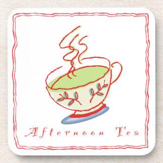 Sistema del práctico de costa del té de tarde posavasos de bebidas