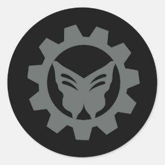 Sistema gris del pegatina del logotipo del