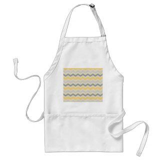 Sistema gris y amarillo de la cocina del zigzag de delantal