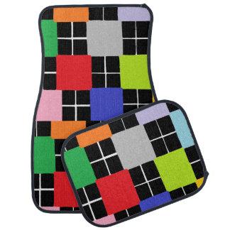 Sistema multicolor del diseño de los cuadrados de alfombrilla de coche