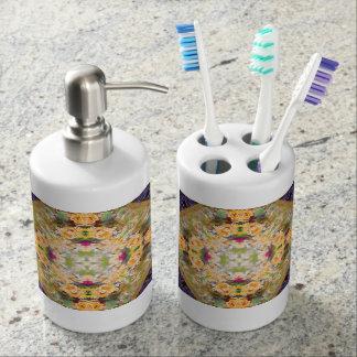 Sistema nupcial del dispensador del jabón de la conjunto de baño