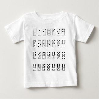 sistema retro del vintage de dominós camiseta de bebé