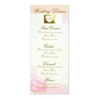 Sistema rosado elegante del rosa del borde del invitación 10,1 x 23,5 cm