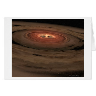 Sistema Solar del concepto del artista mini en la  Tarjeton