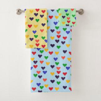 Sistemas coloridos de la toalla de baño del