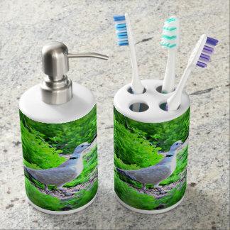 Sistemas del cuarto de baño de la paloma de vasos para cepillos de dientes
