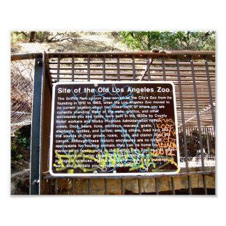 Sitio de la vieja muestra del parque zoológico de  impresion fotografica