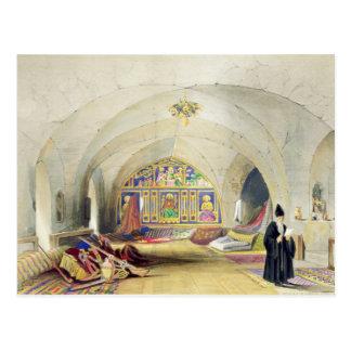 Sitio en un convento armenio, en Jerusalén (color Postal