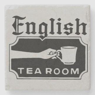 Sitio inglés del té posavasos de piedra