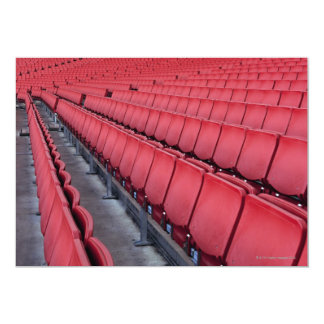 Sitios vacíos en estadio invitación 12,7 x 17,8 cm