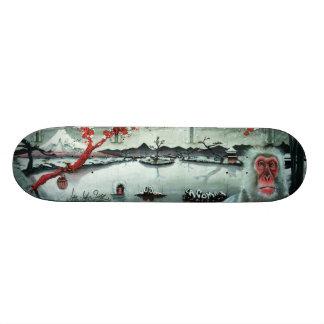 Skateboard Aguas termales de la flor de cerezo - cubierta del