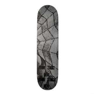 Skateboard arte retro del galón del extracto blanco y negro