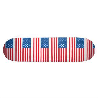 Skateboard Barras y estrellas de la bandera de los E.E.U.U.
